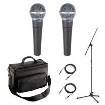 Shure SM58-LC Microphone Bundle with Two SM58-LC Microphones
