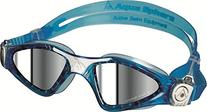 Aqua Sphere Smaller Fit Kayenne with Low Profile Mirrored Lens Goggles, Aqua/White
