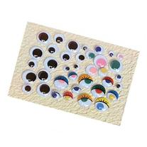 School Smart Round Wiggle Eyes - 5mm - White with Black