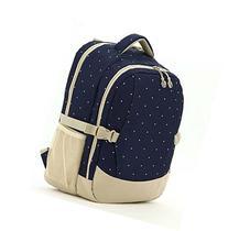 Smart Organizer System Backpack Diaper Bag Dark Blue Dots