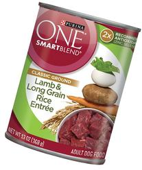Purina ONE SmartBlend Wet Dog Food, Classic, Ground Lamb &