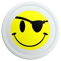 """Smile Smiley Pirate Face Novelty 9"""" Flying Disc"""