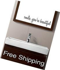 smile, you're beautiful - vinyl wall decal sticker bathroom