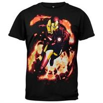 Iron Man - Smolder Flame T-Shirt - S
