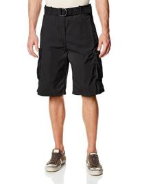 Levi's Men's Snap Cargo Short, Black Microdobby, 34W
