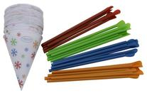 Time for Treats Snow Cone Cups and Spoon Straws 25-Pack by