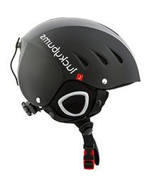 Lucky Bums Snow Sport Helmet, Matte Black, Large