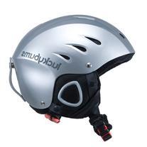 Lucky Bums Snow Sport Helmet with Fleece Liner, Metallic