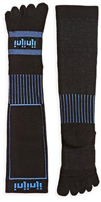 Injinji Unisex Snow Midweight OTC Socks, Black, Small