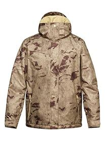 Quiksilver Snow Men's Mission Printed Insulated Jacket,