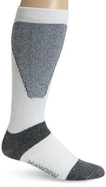 Wigwam Women's Snow Sirocco Midweight Wool Ski Sock, White,