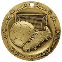 Soccer World Class Gold Medal with Red, white & blue v-neck