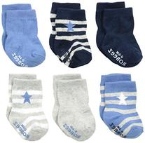 Infant Boy's Robeez 'Rugby Star' Socks, Size 0-6months -