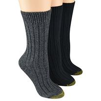 Gold Toe Women's Socks Weekender Crew Black/Charcoal 3pairs