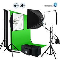 LimoStudio 2400W Softbox Boom Lighting Kit with Photograpghy
