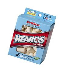 HEAROS Softstar Foam Series Ear Plugs, White, 56 Pair