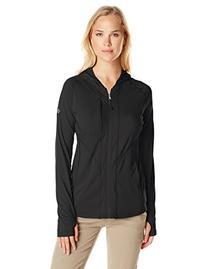 ExOfficio Women's Sol Cool Hooded Zippy Long Sleeve Shirt,