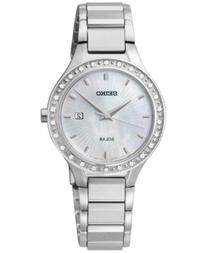 Seiko Women's Solar Diamond Accent Stainless Steel Bracelet