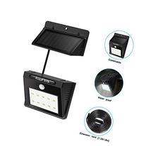 ILLUNITE Solar Light 10 Ultra Bright LEDs Motion Sensor