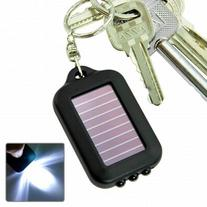 TOOGOO Solar-powered LED Flashlight w/ Keychain