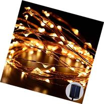 LUCKLED Outdoor Solar Powered String Lights, 120 LED Warm