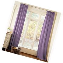Carousel Designs Solid Aubergine Purple Drape Panel 96-Inch