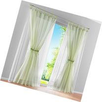 ZARABE Solid double curtain pastoral Mediterranean Screens