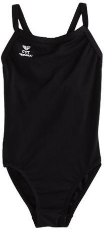 TYR Sport Women's Solid Durafast Diamondback Swim Suit,Black