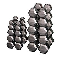 Body Solid Grey Hex 5-50Lbs Dumbbell Set