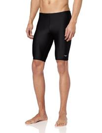 Speedo Men's PowerFLEX Eco Solid Jammer Swimsuit,36,Black