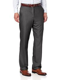 Perry Ellis Men's Solid Pant, Charcoal Heather, 31x30