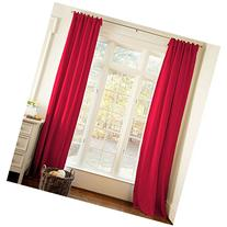 Carousel Designs Solid Red Drape Panel 64-Inch Length