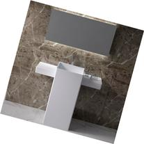 ADM Solid Surface Free Standing Sink 24 x 16 - Matte White