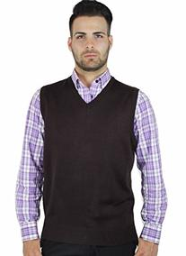 Blue Ocean Solid Color Sweater Vest-Large