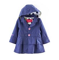 London Fog® Baby Girls' Solid Tiered Trench