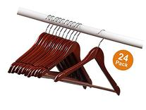 Home-it  Pack Solid Wood Clothes Hangers, Coat Hanger