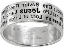 STERLING SILVER NAMES OF JESUS RING STYLE 811-SIZE 11