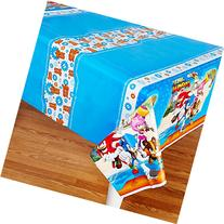 Sonic Boom Party Supplies - Plastic Tablecover