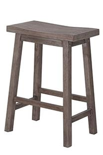 Boraam 75024 Sonoma Counter Height Saddle Stool, 24-Inch, Wire-Brush