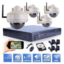 ANRAN 4CH 1080P HD WIFI NVR Home Security Camera System with
