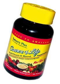 Natures Plus Source of Life - 360 Vegetarian Mini Tablets -
