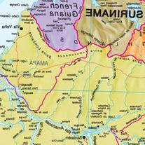 South America Laminated Wall Map