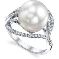 South Sea Pearl & Diamond Sophia Ring