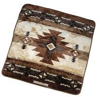 79x94 Southwest Native Indian Beige Soft Plush Faux Mink