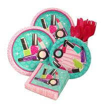 Makeup Spa Birthday Party Supply Pack! Bundle Includes Paper