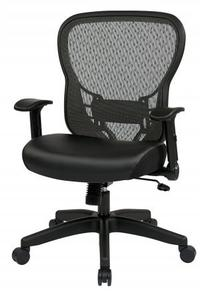 Space 28 Back Chair with Eco Leather Seat and Flip Arms