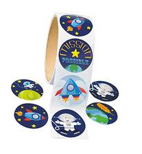 """Space Stickers  1 1/2"""". Paper"""