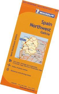 Michelin Spain: Northwest, Galicia Map 571