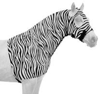 Tough 1 Spandex Mane Stay Hood with Full Zipper in Fun Prints, Zebra, Medium