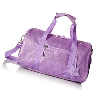 Bixbee Sparkalicious Purple Duffle Bag, Medium